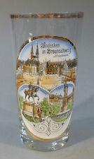 Andenkenglas Becher Glas Ansichtenglas Braunschweig Niedersachsen um 1910