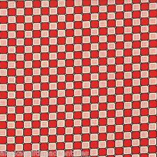 MODA Fabric ~ DUCKS IN A ROW ~ American Jane (21656 11) Cherry - by the 1/2 yard