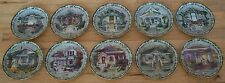 Complete Plate Set of 10 Welcome Home Series Glenna Kurz Flowers Floral Plate