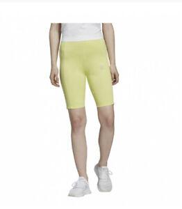 NWOT ADIDAS WOMEN'S ORIGINALS CYCLING SHORTS: YELLOW. Size Small
