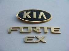 10 11 12 13 KIA FORTE EX SEDAN REAR LID GOLD EMBLEM LOGO BADGE SIGN SYMBOL SET