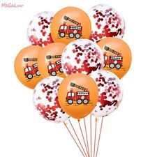 Fire Truck Latex Balloon Construction Vehicle Kids Birthday Party Decoration New