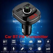 Car Kit Bluetooth Fm Transmitter Mp3 Player Radio Adapter Handsfree Usb Charger