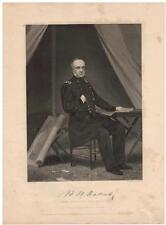 Henry Halleck 1862 Steel Engraving Print Major General Civil War and Scholar