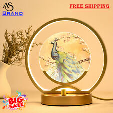 Modern Dimmable Chines Bedside Table Lamp LED Romantic Home Décor Living Bedroom