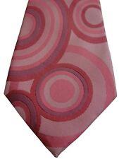 BEN SHERMAN Mens Tie Pink SEVENFOLD SKINNY