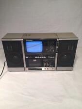 Vintage 80s Emerson XLC-555 Portable TV AM/FM Radio Cassette Player Boombox
