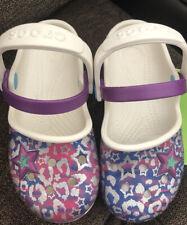 Crocs Karin Novelty Clog Sandals Shoes Size 10 Oyster Amethyst
