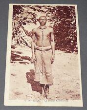 RARE CPA CARTE POSTALE 1930 COLONIES AFRIQUE HAUTE-SANGHA SORCIER KOMMANDA