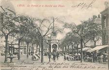More details for liege: le perron et le marche aux fleurs vintage postcard (sep 1905).