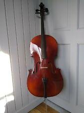 More details for 1/2 size stradivarius model cello, tatra by rosetti, with case & la salle bow
