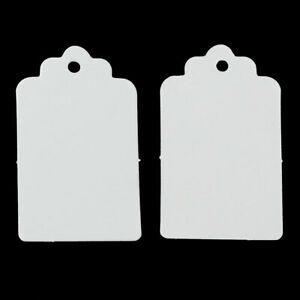 100 Gift Tags 3x5 CM Miniblings Present Tag Charm White