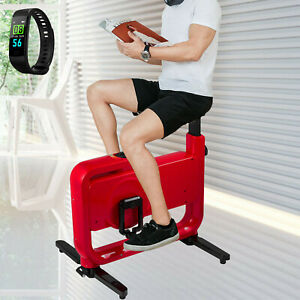 Fodable Exercise Bike Under Desk 8 Levels Magnetic System Fitness W/Smart Band