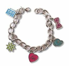 Little Mix Emblems Silver Charm Bracelet New Official Girls Juniors Collectible