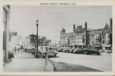 VTG Tremont Square Street Scene Old Cars in Claremont New Hampshire NH Postcard
