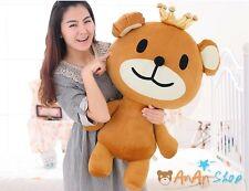 New 31' 80cm Crown Plush Teddy Bear Big Stuffed Animal Doll Soft Toy Kids Gift