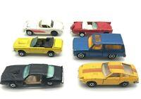 Lot of 6 Vintage Toy Cars 3 Kidco 3 Yatming Hong Kong 1970s