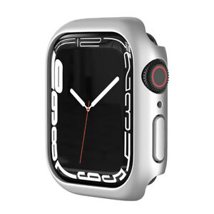 For Apple Watch Series 7 41mm 45mm Rugged PC Frame Protector iWatch Case Cover