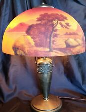 Antique Hand Painted Lamp W/Reverse Painted Shade Pittsburgh? Great Condition