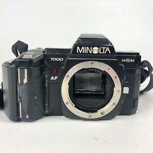 Minolta Maxxum 7000 Black Autofocus SLR 35mm Film Camera