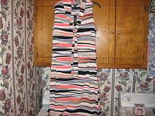 WOMENS DRESS SIZE 18W PLUS SIZE XLARGE  LONG CLASSIC NECKTIE STRIPE DRESS NWTAGS