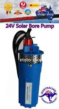 "24V DC SOLAR PUMP 4"" SUBMERSIBLE BORE HOLE WATER PUMP 70M HEAD DEEP WELL BATTERY"