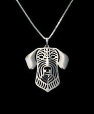 Wire Haired Dachshund Silver Charm Pendant Necklace, Dog Lover, Friend Gift
