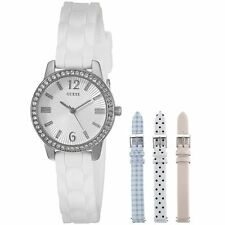 Guess Women's Watch Interchangeable Silicone & Leather Straps Set U0784L1