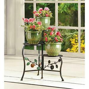 COUNTRY APPLE BRANCH 3 TIER PLANT STAND * 3 Tier Gate In/Outdoor** NIB