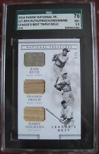 BABE RUTH 2/5  GAME USED JERSEY 2016 PANINI NATIONAL TREASURES FRISCH HEILMANN!!