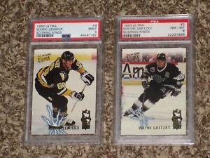 Wayne Gretzky + Mario Lemieux 1993 Fleer Ultra Scoring Kings 1993-94 PSA 8 9 Lot