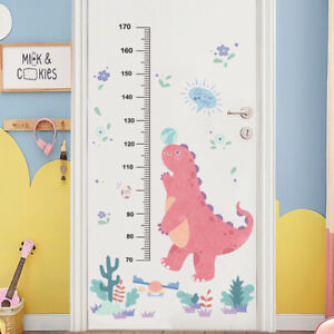Cartoon Dinosaur Wall Sticker Height Measure Growth Chart Decal Nursery Baby Kid