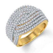 0.77 Karat Runde D / Vvs1 Crossover Verlobungsring 14k Gelb Gold Über