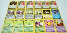 Pokemon Team Rocket Unlimited Card Lot (18) - Abra / Squirtle / Voltorb + More!