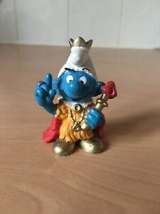 Emperor White Hat Smurf Peyo Schleich Emblem W.Germany 2.0046 Schtroumpfe Puffi