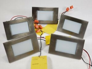 Lot of 5 - WAC Lighting LED Diffused Step/Wall Amber/S Steel - 4071-AMSS