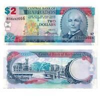 Pick 66c Barbados 2 Dollars 2012 Unc. / 2818444vvv.