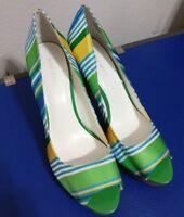 NINE WEST Heels Women's 8.5M , colorful, open toe