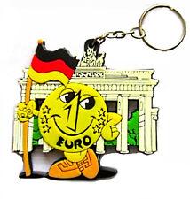 5 Stck Schlüsselanhänger EURO Maskottchen Deutschland Brandenburger Tor NEUWARE