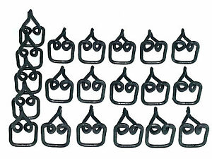"GM Body 5/8"" Fender Side Belt Vinyl Top Moulding Molding Trim Clips Clip 20pcs J"
