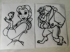 Beauty and the Beast (Belle/Beast) Vinyl decal sticker Water bottle/ glass etc