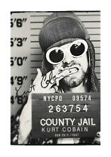 Kurt Cobain 2 A4 Mug Shot reproduction autograph picture poster choice of frame