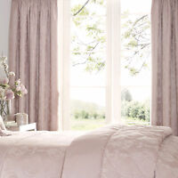 Luxury Jacquard Katherine Rose Pink 66 x 72 Ready Made Curtains Pencil Pleat