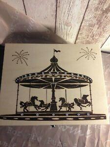 Beautiful Carousel wooden box, pyrography