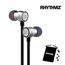 RHYTHMZ ® HD7 SmartTalk™ Earphones with Microphone + Volume Control (Silver)