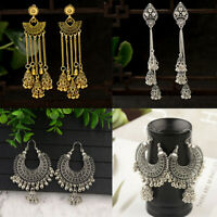 Hot Vintage Tassel Bells Drop Earrings Retro Gypsy Indian Jhumka Ethnic Jewelry