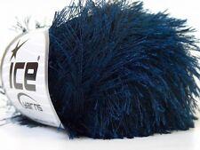 Navy Blue Eyelash Yarn #22781 Ice Dark Midnight Blue Fun Fur 50 gram
