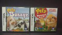 Petz Bunnyz + Bunnyz Bunch -  Nintendo DS Lite 3DS 2DS 2 Games - Complete Tested