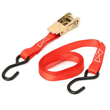 1''x10Ft Ratchet Tie Down With 2Pcs S Hook Cargo Strap Tensioner Hauling Truck