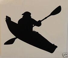 2 x Kayak canoe Sticker/Decal Kayaking/Watersports/Boating/Canoeing